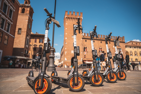 Helbiz Launches E-Scooters and E-Bicycles in Ferrara, Italy (Photo: Business Wire)