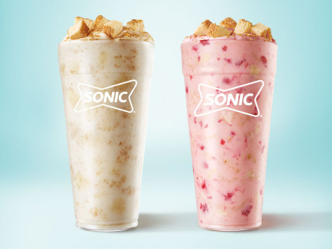 The new Cheesecake Blast and Strawberry Cheesecake Blast swirl creamy cheesecake and buttery graham cracker pieces for a lusciously layered cheesecake experience in a cup. (Photo: Business Wire)