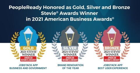 In recognition of its innovative advancements and creative efforts in connecting people and work, staffing leader PeopleReady was named the winner of gold, silver and bronze Stevie® Awards in the 19th annual American Business Awards®. (Photo: Business Wire)