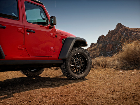 Cooper Tire has launched the new Discoverer Rugged Trek tire, an all-season pickup truck and SUV tire that offers drivers the flexibility of reliable, every day on-road performance in addition to a powerful, rugged design for off-road adventurers. (Photo: Business Wire)