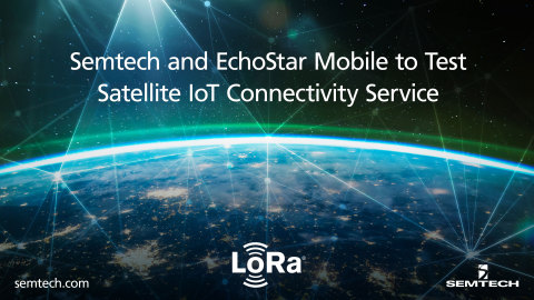 Collaboration between Semtech and EchoStar Mobile is aimed at creating the first low cost, satellite-based, real-time, bidirectional, massive IoT connectivity service. (Graphic: Business Wire)