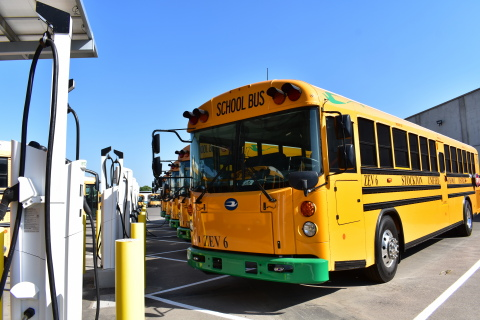 The Mobility House to save Stockton Unified School District $500k via its smart charging strategy and management solutions for the district's zero-emission school bus fleet, which is now operational. (Photo: Business Wire)