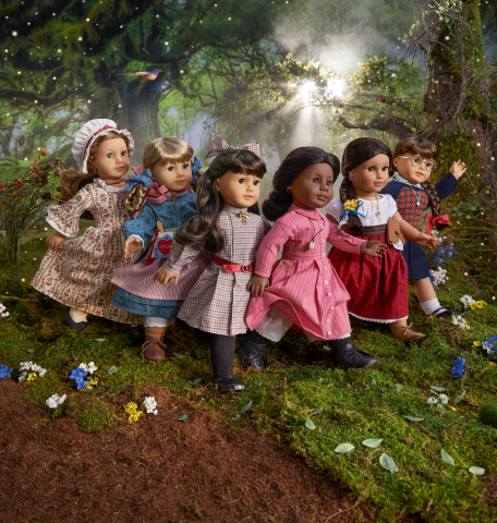 American Girl's yearlong 35th birthday celebration kicks off with the reintroduction of it original six historical characters, Felicity Merriman, Kirsten Larson, Samantha Parkington, Addy Walker, Josefina Montoya, and Molly McIntire. (Photo: Business Wire)