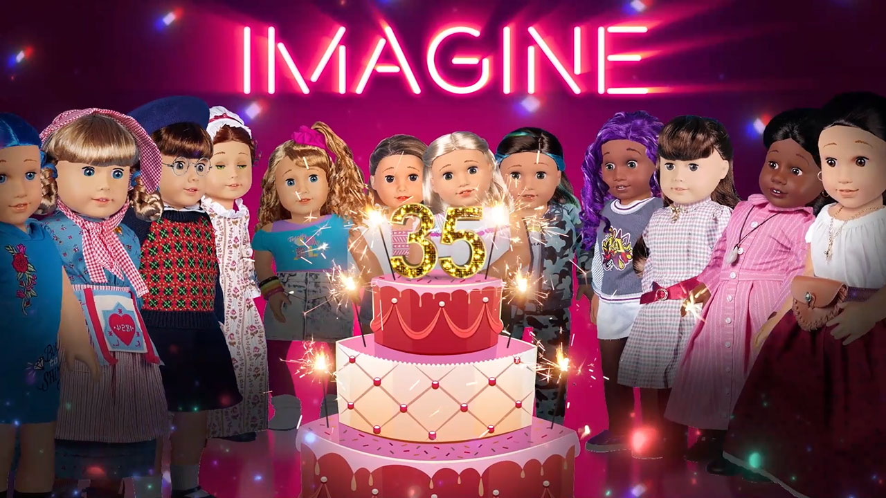 The animated music video for American Girl's new release--Happy Birthday, American Girl--from the all-new digital album, American Girl Get Up and Dance, now available for download for the first-time.