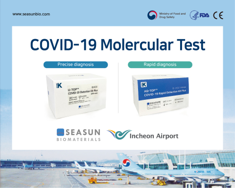 SEASUN BIOMATERIALS' COVID-19 molecular diagnostic reagents used at the COVID-19 Test Center at Incheon Airport. (Photo: Business Wire)
