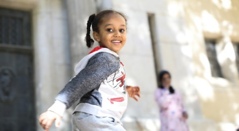 © St. Andrew's Refugee Services, Young refugee student at the StARS preschool in Cairo, Egypt.