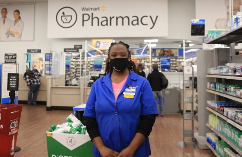 Walmart and Sam's Club are now administering walk-up COVID-19 vaccines at 5,100+ pharmacies nationwide. (Photo: Business Wire)