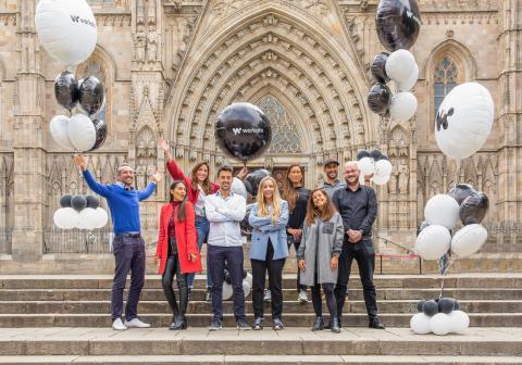 Workato's EMEA team celebrate the EMEA launch. Image credit: Storisell