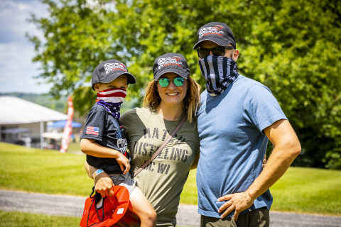All first responders receive free entry to the REV Group Grand Prix from June 17-20 at Road America and can pick up a free commemorative baseball cap as part of REV Group's Tribute to First Responders. (Photo: Business Wire)