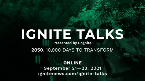 Cognite, a leader in industrial innovation, will host its fourth annual global conference, Ignite Talks, on September 21-23, 2021. (Photo: Business Wire)
