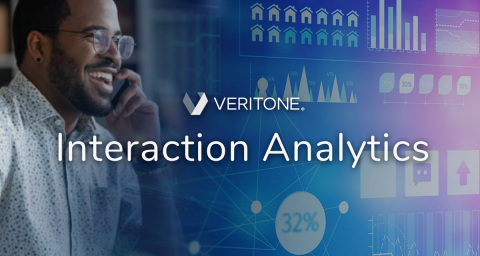 Veritone announces Interaction Analytics, revealing three pre-configured AI solutions for customer contact center and social media insights. (Graphic: Business Wire)