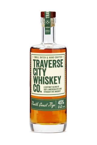 Traverse City Whiskey Co., a portfolio of premium whiskies and bourbon made in Michigan, proudly announced that its North Coast Rye Whiskey and Signature Edition Barrel Proof Straight Rye Whiskey, were awarded Double Gold and Gold medals, respectively, at the prestigious 2021 San Francisco World Spirits Competition. (Photo: Business Wire)