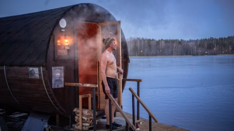 """In sauna we all are equal. That is what we say in Finland."""" Photo: Laura Vanzo / Visit Tampere"""