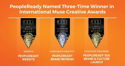 PeopleReady's We Are Ready™ branding refresh and creative efforts earned top honors in the 2021 Muse Creative Awards hosted by the International Awards Associate (IAA). (Graphic: Business Wire)