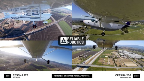 Reliable Robotics Remotely Operated Aircraft System on the Cessna 172 and Cessna 208 (Graphic: Business Wire)