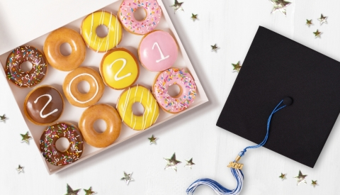 New dozen available for purchase for one week only starting May 10, along with FREE dozen for class of 2021 graduating seniors wearing their senior class swag on May 13 (Photo: Business Wire)