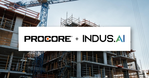 Procore Acquires Construction Artificial Intelligence Company, INDUS.AI. This acquisition adds computer vision capabilities to the Procore platform, helping owners, general contractors, and specialty contractors realize greater efficiencies, safety, and profitability. (Photo: Business Wire)