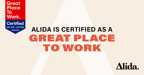 Alida is certified as a Great Place To Work (Graphic: Business Wire)