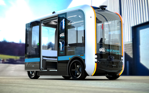 GameAbove Mobility is investing in Local Motors, makers of the Olli autonomous electric vehicle. Photo courtesy of Local Motors.