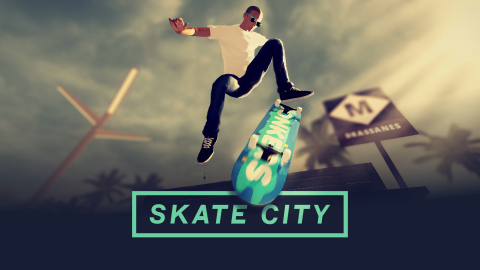 Pull off realistic tricks with ease and skate just like the pros in Skate City. (Graphic: Business Wire)