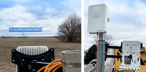 Unprecedented range and sustained speeds - Recent 5G mmWave field tests on the UScellular network demonstrated sustained average downlink speeds of ~1 Gbps and peak speeds over 2 Gbps at a distance of 7 km — the farthest 5G mmWave Fixed Wireless Access (FWA) connection in the U.S. This milestone was achieved using Ericsson infrastructure and an Inseego Wavemaker fixed wireless outdoor gateway, powered by the Qualcomm 5G Fixed Wireless Access Platform gen 1. (Photo: Business Wire)