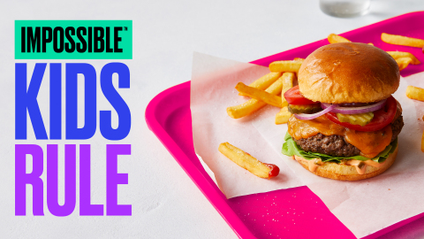 Impossible Foods has secured Child Nutrition Labels for Impossible Burger, a milestone for entering the K-12 market. (Graphic: Business Wire)