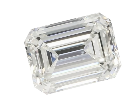 This Emerald cut, lab-grown diamond was produced using the Diamond Works Technology OneStep™ continuous growth process technology. The Diamond Works Technology OneStep growth process is unique, and offers significant advantages in quality, lower costs and repeatability. The OneStep process can produce large, high quality diamonds, capable of being cut into fancy shapes -- products that are in high demand, but short supply. (Photo: Business Wire)