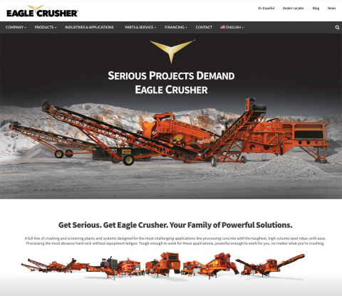 Eagle Crusher Company consistently leads the industry in new product innovations. The legacy continues with an innovative new website, recently launched, to help users find just the right products they need for their operations. (Photo: Business Wire)