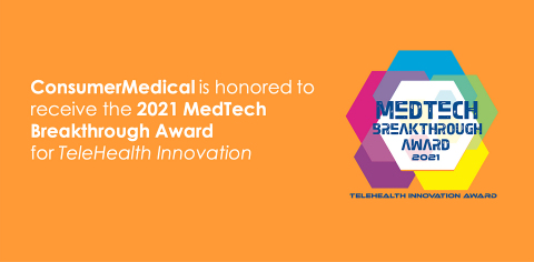 """ConsumerMedical, a leading clinical advocacy, decision support, and expert medical opinion company, has been selected as the winner of the """"TeleHealth Innovation Award"""" in the fifth annual MedTech Breakthrough Awards program. The company was recognized for its proprietary technology that allows for true 360-degree multidisciplinary collaboration among various levels of clinicians and sub-specialists."""
