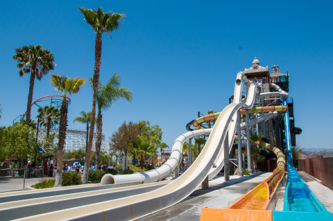 Six Flags Hurricane Harbor, located next Six Flags Magic Mountain, is re-opening May 15, 2021. (Photo: Business Wire)