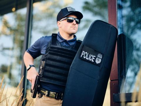 AEGIX Global announced an expanded emphasis on delivering advanced products and solutions to make people, particularly those on the front lines of service, feel protected and safe--including the Swift Shield, a foldable ballistic shield. (Photo: Business Wire)