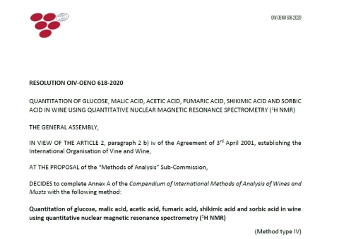 Oenology resolution OIV-OENO 618-2020 of the International Organisation of Vine and Wine (Graphic: Business Wire)