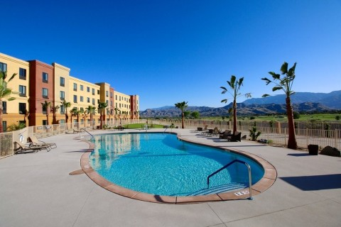 Stay cool: Splash under the San Jacinto Mountains. (Photo: Business Wire)