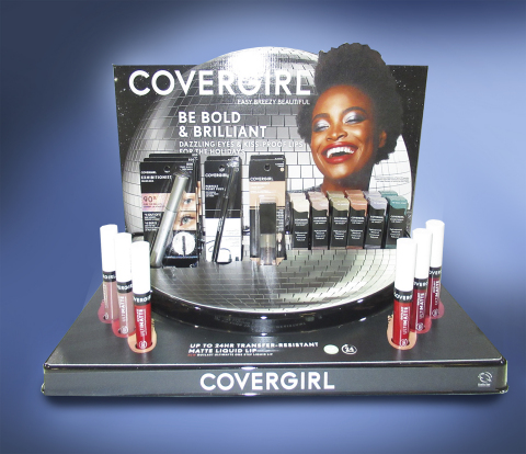 WestRock's holiday counter display for CoverGirl won the Budget Award and a Silver Award at this year's Outstanding Merchandising Achievement (OMA) Awards. (Photo: Business Wire)