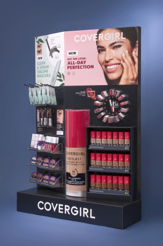 """WestRock's """"Find it First"""" display for CoverGirl won a Gold Award at this year's Outstanding Merchandising Achievement (OMA) Awards. (Photo: Business Wire)"""