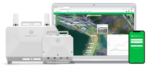 用于分布式传感器网络的 sensemetrics 连接和云管理解决方案。