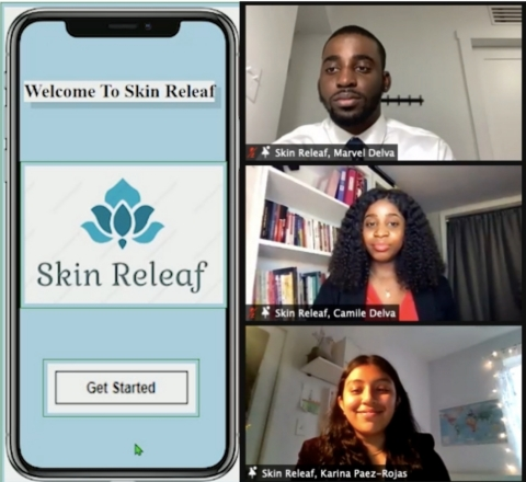 Skin Releaf, winner of 2021 Standard Chartered Women in Tech Incubator Competition (Photo: Business Wire)
