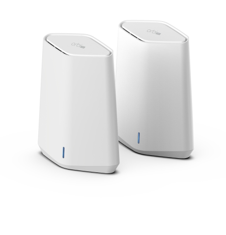 Featuring the latest WiFi data security protocol, WPA3, along with support for up to 4 separate SSIDs and VLANs, the Orbi Pro WiFi 6 Mini Mesh System enables network streams to be securely separated from each other. (Photo: Business Wire)
