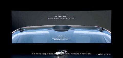 Innovusion's LiDAR becomes the standard configuration of NIO's ET7 autopilot super sensing system. (Graphic: Business Wire)