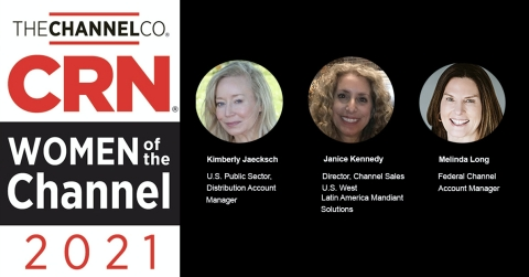 FireEye leaders Kimberly Jaecksch, Janice Kennedy, and Melinda Long recognized as CRN Women of the Channel. (Photo: Business Wire)