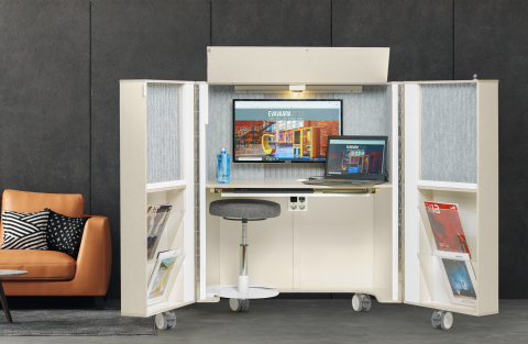 Evävaara's functional work stations are designed to fit any home with their harmonic, modern look (Photo: Business Wire)