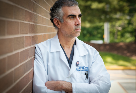 Richard Temes, MD, Northwell Health's director, Center for Neurocritical Care (Credit: The Feinstein Institutes for Medical Research)