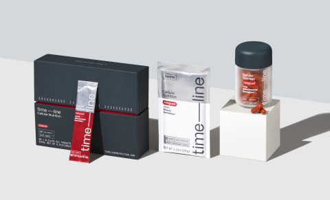 Time-line is a novel, science-first brand developed by Amazentis on the belief that uncompromising research can unlock a new class of clinically validated nutritional products. For more information, please visit www.timelinenutrition.com. (Photo Credit: Amazentis)
