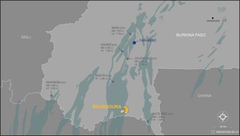 Figure 5. Boussoura project location on Houndé belt (Graphic: Business Wire)
