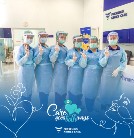 The 'Care goes both ways' campaign of Fresenius Medical Care provides a platform to connect, support and celebrate healthcare workers and the extraordinary care they provide. On one of the channels all staff is invited to submit words of thanks to nurses and clinical teams. (Photo: Business Wire)
