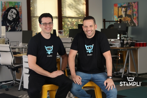 Stampli co-founders, brothers Eyal Feldman, CEO (Right) and Ofer Feldman, CTO (Left) (Photo: Business Wire)