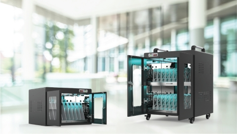 UV-C Clean And Charge Carts Generation 2.0 (Photo: Business Wire)