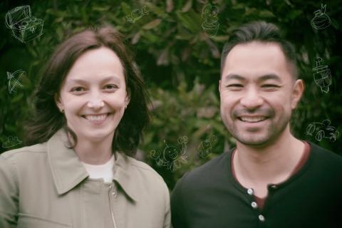 Sanlo cofounders Olya Caliujnaia and William Liu (Photo: Business Wire)
