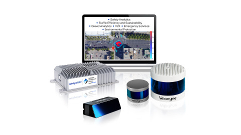 Velodyne Lidar's Intelligent Infrastructure Solution is designed to solve some of the most challenging and pervasive infrastructure problems. The solution combines Velodyne's award-winning lidar sensors and Bluecity's powerful artificial intelligence (AI) software to monitor traffic networks and public spaces. (Photo: Velodyne Lidar)