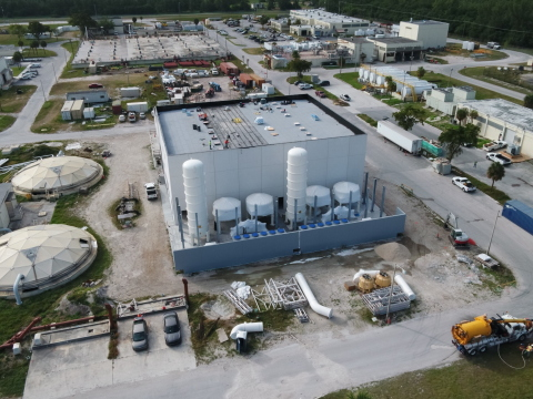 Two AirSep VPSA Oxygen Plants are part of a major upgrade to sewage treatment plants in Miami-Dade County. © Copyright 2021 PCL Construction
